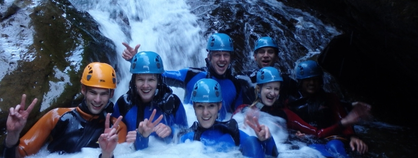 Teambuilding beim Canyoning